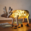 New DIY Deer LED Night Light Christmas Birthday Gift Animal Shape USB Desk Lamp babysbreath table light for children Bedroom