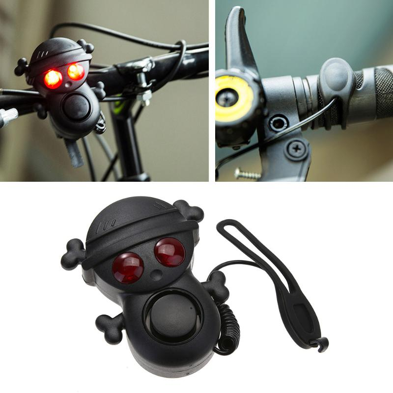 1Pc Skull Bicycle Bell Cycling Horns Electronic Bike Handlebar Ring Strong Loud Air Alarm Bell Sound Bike Horn Safety Promotion