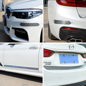 Image 5 - רכב מדבקות לייזר 5D פחמן סיבי גומי סטיילינג דלת אדן מגן מוצרים עבור KIA אאודי מאזדה פורד יונדאי וכו אביזרים