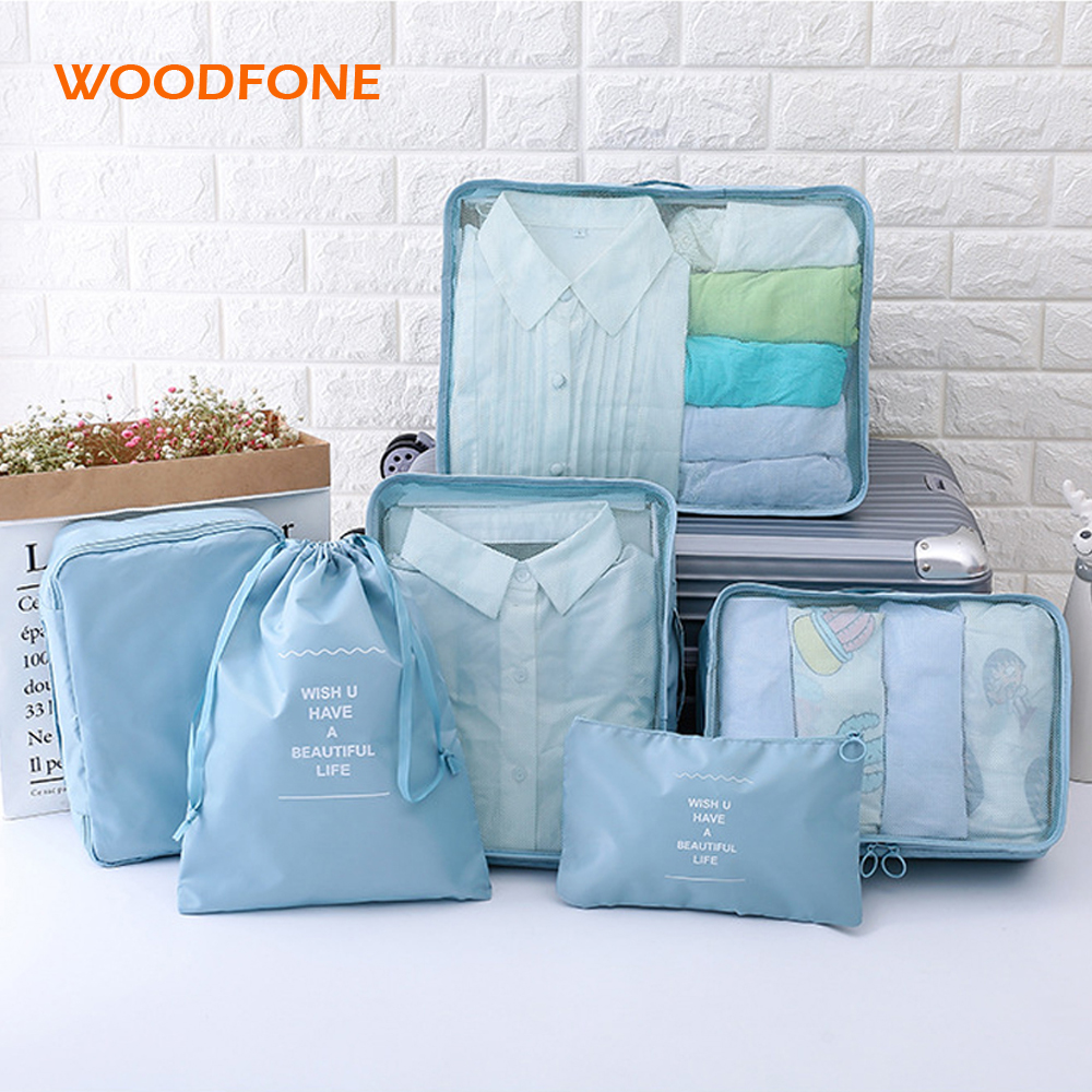 WOOFONE Travel Bag Storage Bag Set 7 Pieces Storage Set Large Capacity Of Unisex Luggage ...