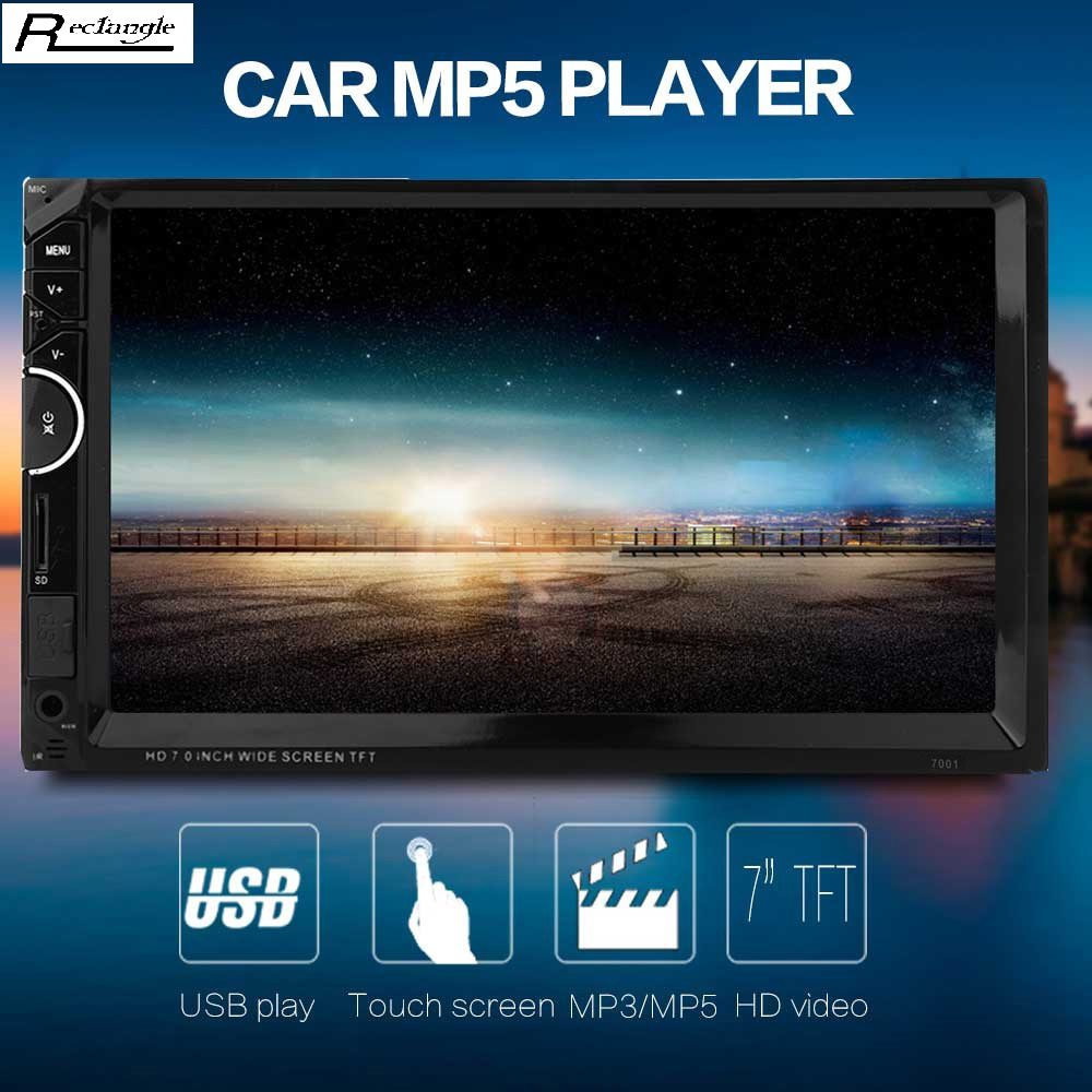 7001 7 inch 2 din 12V 1080P Car Multimedia MP5 Player HD Car Bluetooth RDS Radio