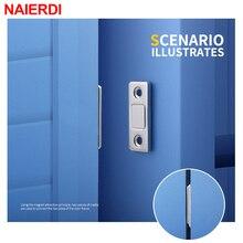 NAIERDI 2 шт./компл. магнитные дверные ограничители Скрытая Дверной доводчик для магнитной тумбочки задвижки с винтовым зажимом для шкаф мебельная фурнитура