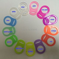 Wholesale Free Shipping 300pcs Silicone Pacifier Ring Adapter Ring MAM Ring Various Color