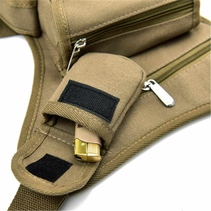 2019 ชายผ้าใบเอวกระเป๋าขาแพ็คกระเป๋าเข็มขัดจักรยานและรถจักรยานยนต์เข็มขัด Fanny Pack สำหรับทำงานสีดำโทรศัพท์กระเป๋า