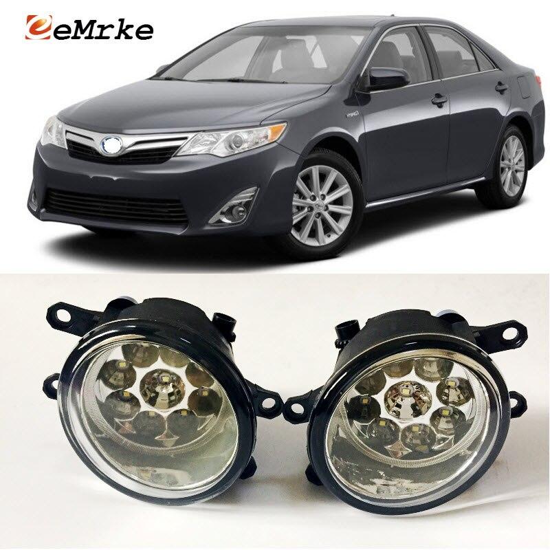 EEMRKE Car-Styling For Toyota Camry Hybrid 2010-2014 US Type 9-Pieces Led Halogen Fog Lights 12V 55W Fog Head Lamp