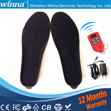 Electric Heated Insole Winter Shoes Boots Pad With Remote Control black RED Foam Material EUR Size 35-46#2000MAH