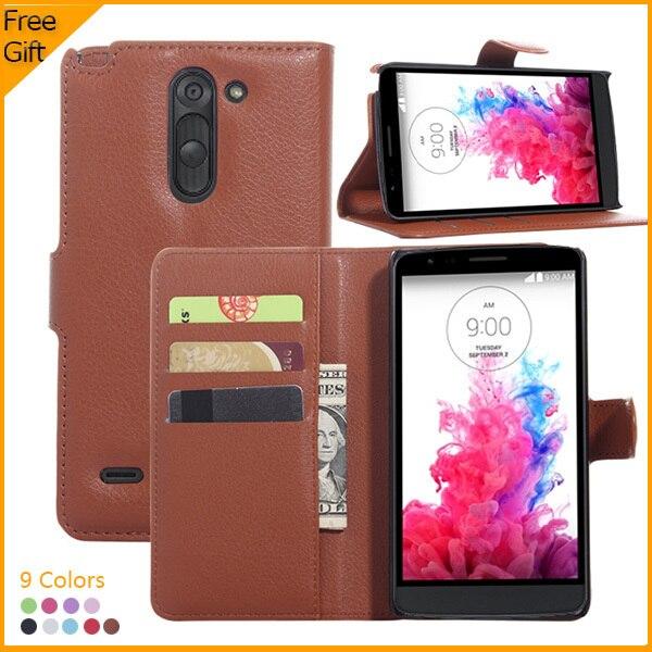 Pochette De Luxe PU Cuir Flip Couverture Cas Pour LG G3 Stylus D690N D690 Cellulaire