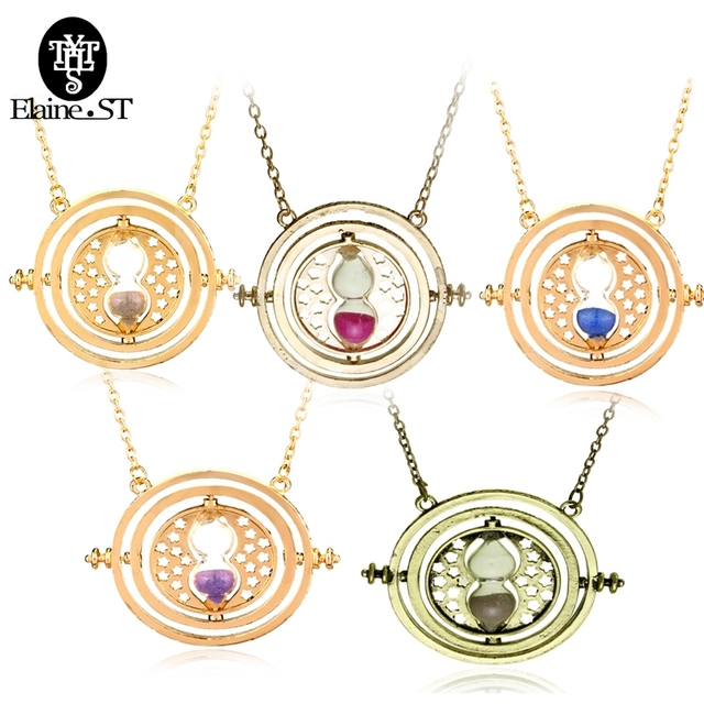 Wholesale 20pcs hermione granger rotating horcrux time turner wholesale 20pcs hermione granger rotating horcrux time turner necklace time converter hourglass pendant necklace for womenmen mozeypictures Image collections
