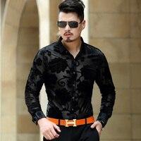 Spring Autumn Long Sleeve Men S Shirts Male Casual Velvet Formal Brand Men Full Sleeve Dress
