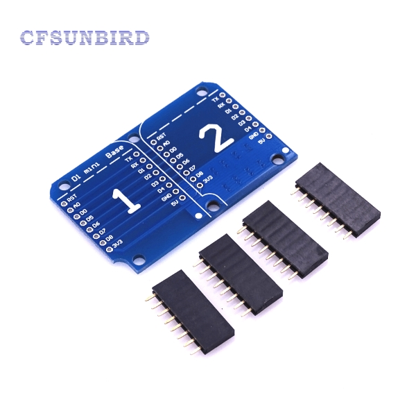 Купить Double Socket Dual Base Shield For Wemos D1 Mini Nodemcu Esp8266 Diy Pcb D1 Expansion Board