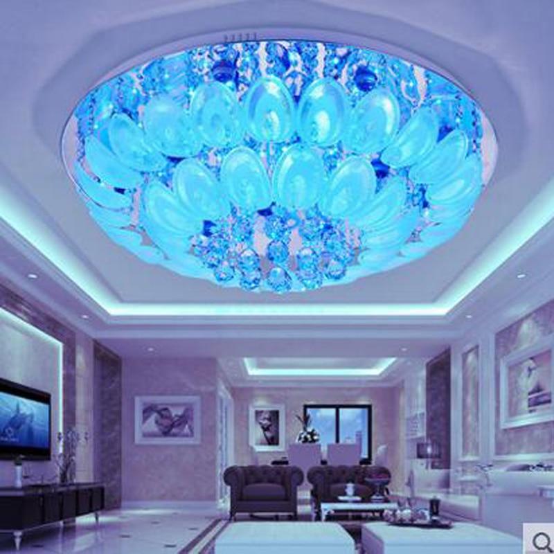 Round crystal living room lamp modern minimalist atmospheric ceiling lamps creative dining room bedroom study lighting fixture