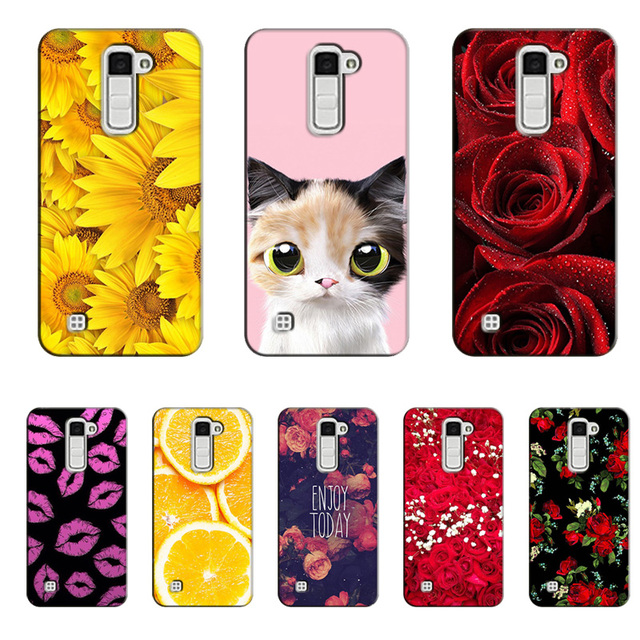 reputable site 2adf4 b4d3f US $3.54 29% OFF|for LG K10 Case Rose Sunflower Pattern Hard Plastic Phone  Cases for LG K10 10 Lte M2 K430 K410 K420N K430DSF Fundas Girl Cases-in ...