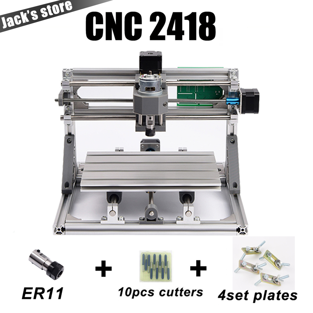 cnc 2418 with ER11,cnc engraving machine,Pcb Milling Machine,Wood Carving machine,mini cnc router,cnc2418, best Advanced toys 3040z dq cnc3040 600w ball screw wood pcb engraving machine milling carving machine cnc 3040 cnc machine cnc router