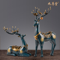 European Style Deer Home Decorations Resin Furnishing Living Room Wine Cabinet Art Work Ornaments Practical Wedding Gifts