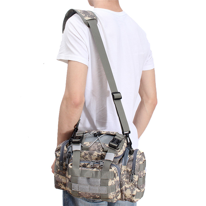 New Men camo Outdoor Sports Molle Tactical bag Carry Waist Hand camping hiking hunting Shoulder Bags backpack rucksack
