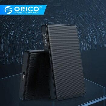 Caja de disco duro ORICO 2,5 pulgadas SATA a USB 3,1 tipo C HDD SSD 2 TB 4 TB carcasa HDD externa para Samsung Seagate SSD