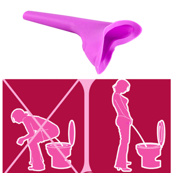 Kobiety stojące pisuar Outdoor Travel Camping przenośne kobiece pisuar miękkie silikonowe urządzenie do oddawania moczu Stand Up Girls Travel Potties tanie i dobre opinie Silicone 15 x 10cm FGR046-1 Purple Women Camping Urine Standing urinals Women Urination Device