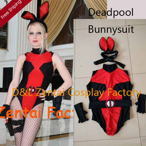 Free Shipping DHL Real Photo Sexy Bunnysuit Deadpool Zentai Catsuits Lycra Spandex Halloween Costume One Piece Suit SH112309-in Movie u0026 TV costumes from ...  sc 1 st  AliExpress.com & Free Shipping DHL Real Photo Sexy Bunnysuit Deadpool Zentai Catsuits ...