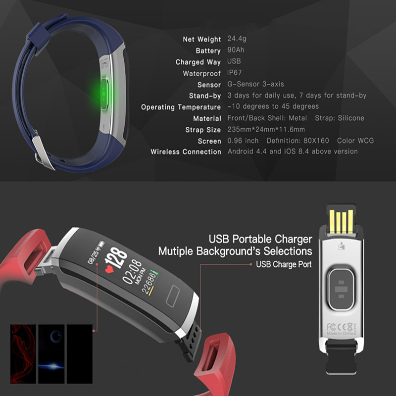 Image 2 - Smart wristband heart monitor fitness activity tracker color screen smart bracelet women men smart watch passometer tacker Hot-in Smart Wristbands from Consumer Electronics