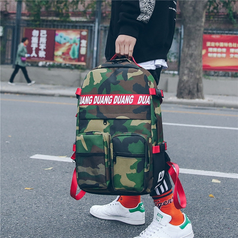 Harajuku Canvas Backpack Women Men Camouflage Street Fashion Laptop Backpack School Bags For Teenagers Travel Backpacks Mochila tangimp drawstring backpacks embroidery dear my universe cherry rocket printing canvas softback man women harajuku bags 2018