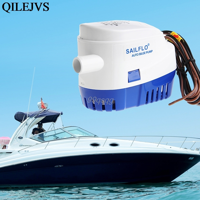 12V Automatic Submesible Boat Bilge Water Pump 750GPH Auto with Float Switch Delivery Drop shipping