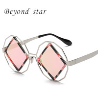 Beyond Star Vintage Square Women Sunglasses Men Summer Sunglasses Women Brand Designer Vintage Gafas Oculos De