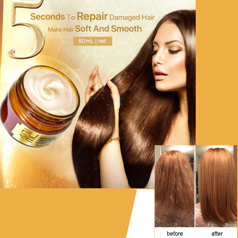 Tonic Hair-Treatment-Mask Root-Hair Keratin Seconds Repairs Purc Magical 5