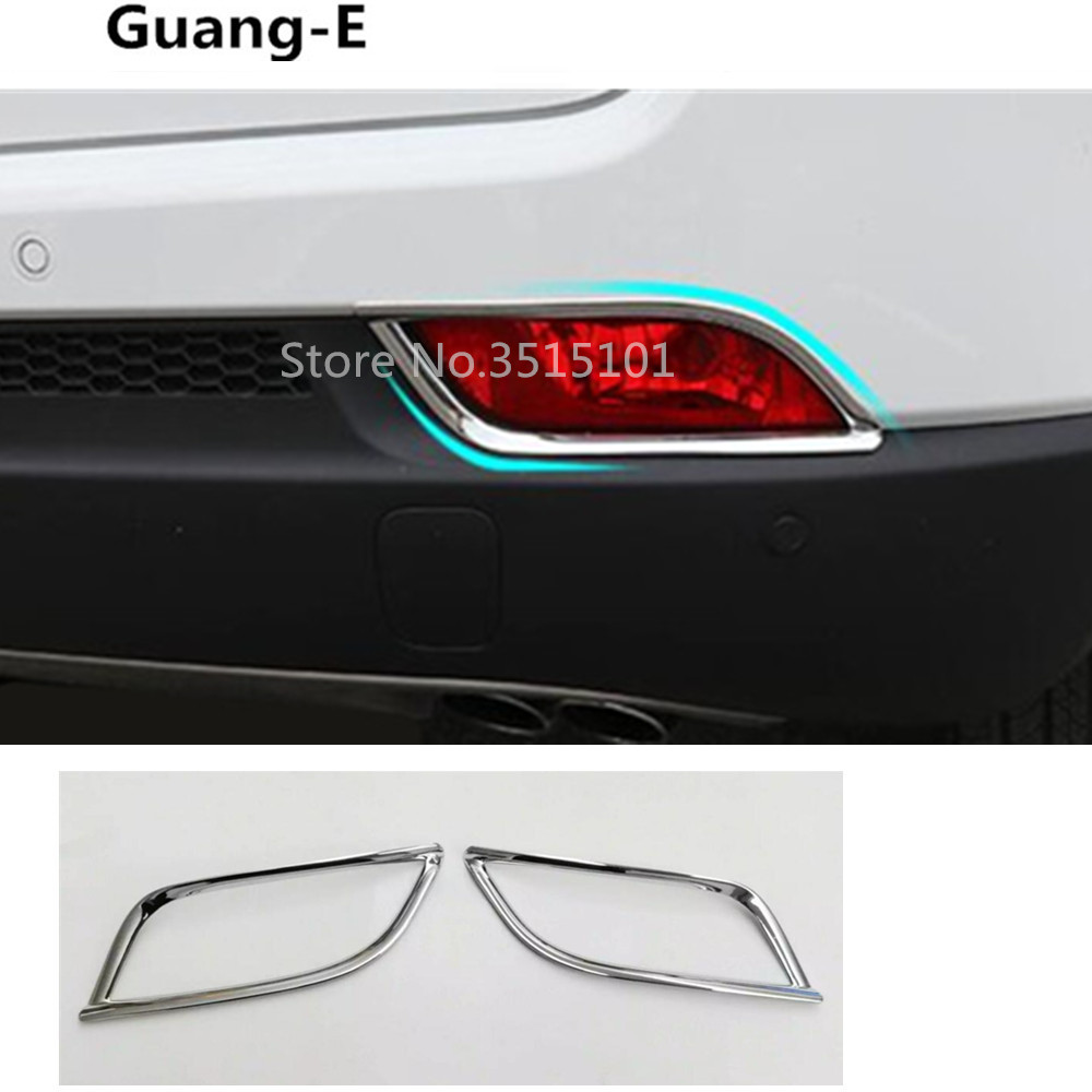 2Pcs Chrome Front Or Rear Fog Light Decor Frame Cover Trim for Jeep Cherokee 12