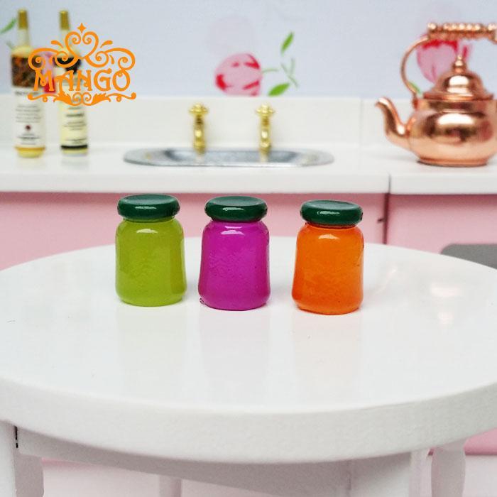 New1: 12 miniatur rumah mini dapur rumah mini 3pcs jimat kaleng
