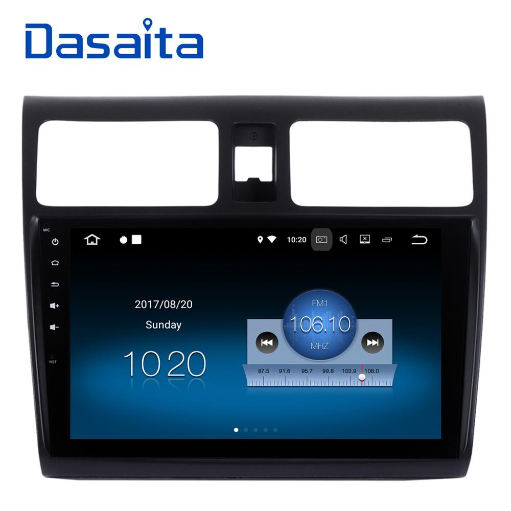 Dasaita 10.2 Android 7.1 Voiture GPS Lecteur Navi pour Suzuki Swift 2005-2010 avec 2g + 16g Quad Core Aucun DVD De Voiture Radio Multimédia HDMI