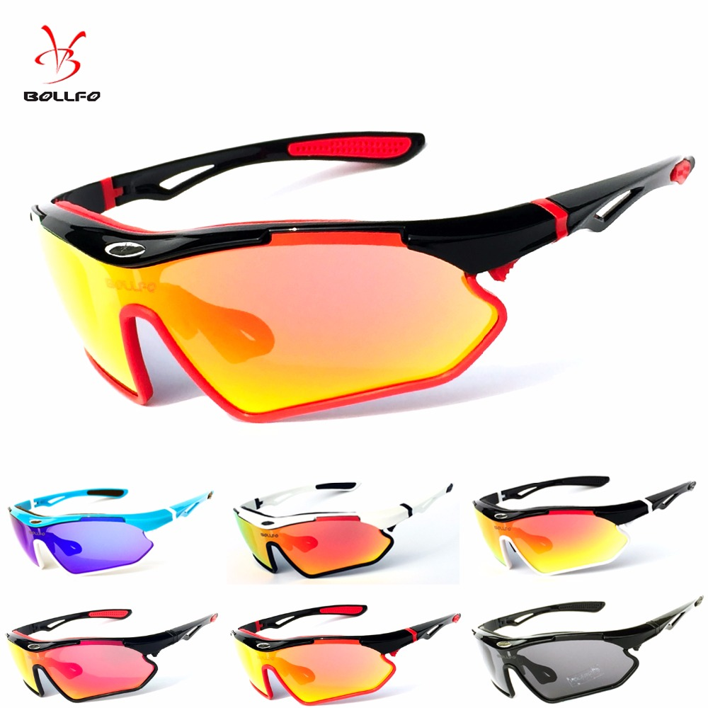 Brand Bollfo 6 Colors 3 Lens Full Package TR90 Tactical Goggles Men Sunglasses Eyewear Outdoor Golf Fishing Gafas sports glasses