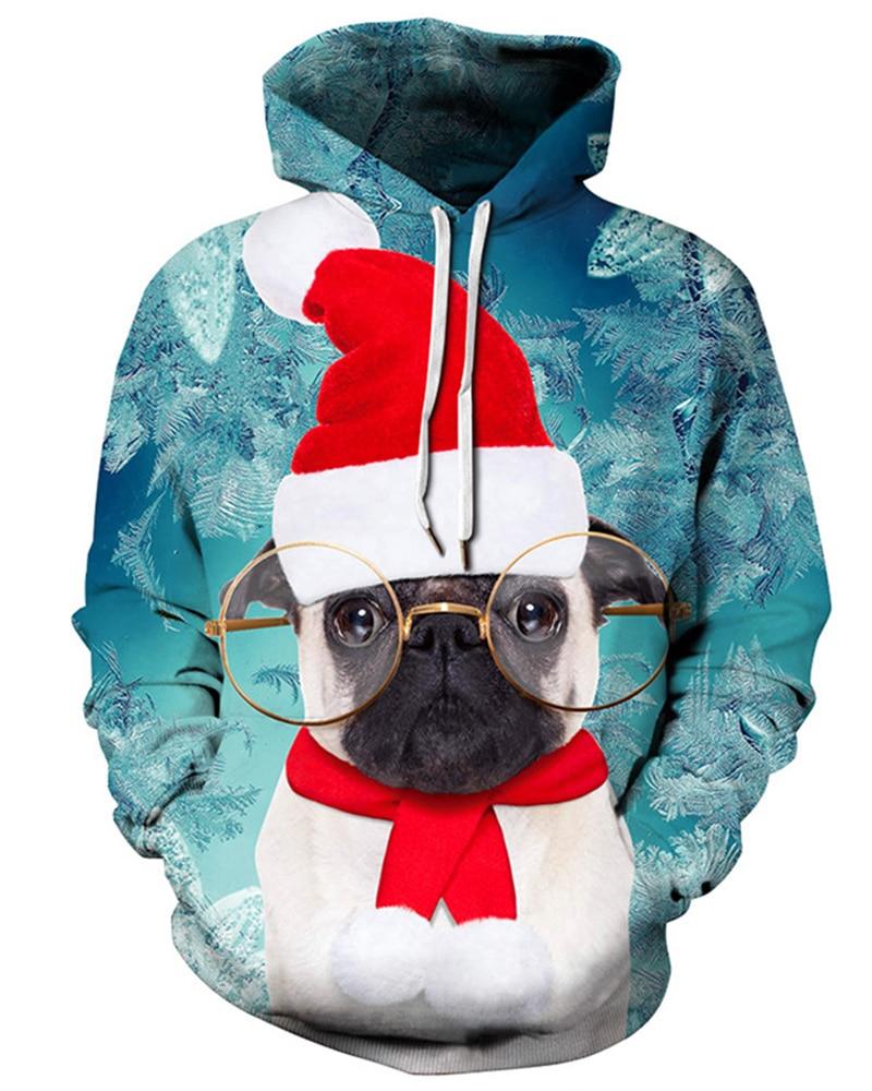 Mens Cat and Dog Lover Long Sleeve Crewneck Sweatshirt