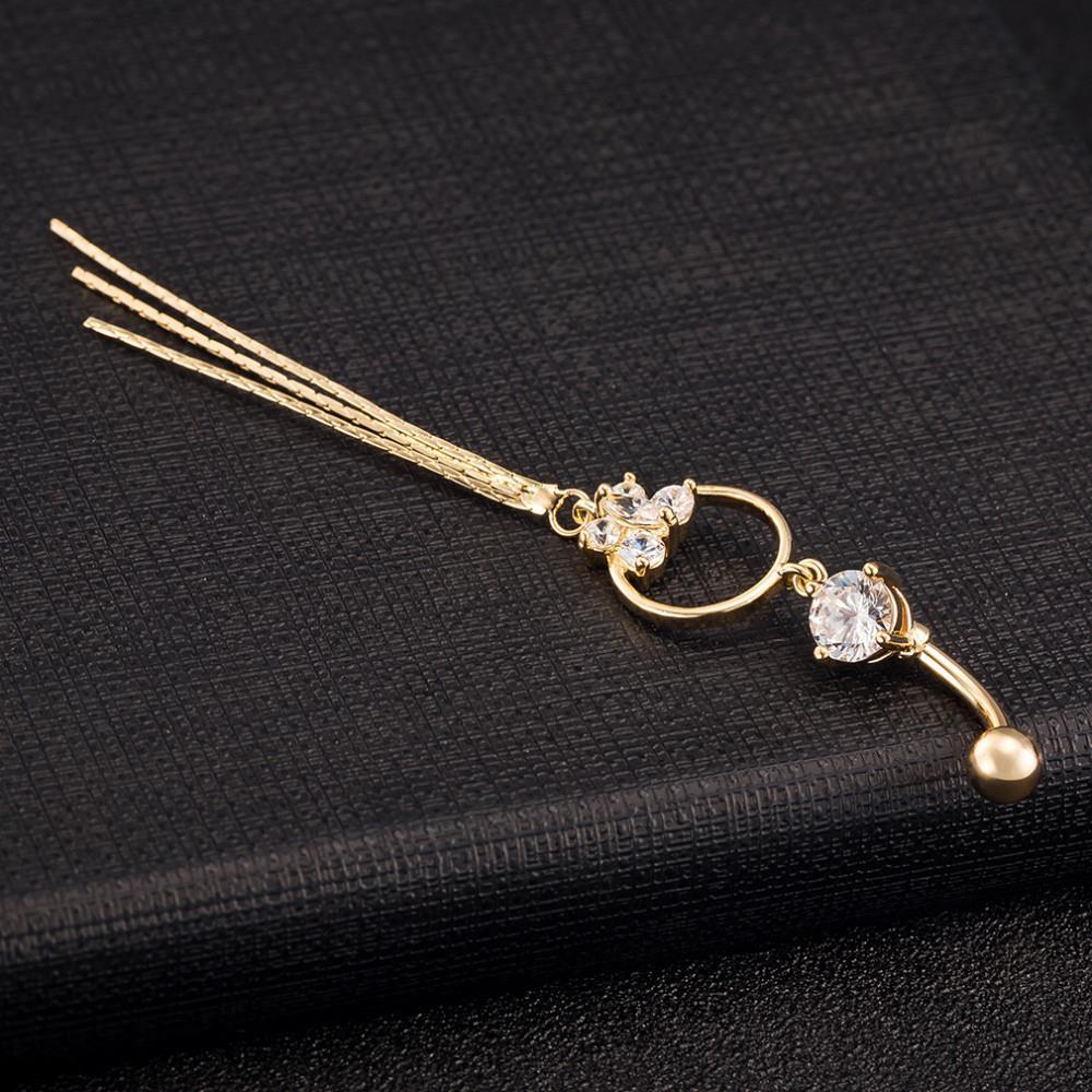 HTB1Jzb9KVXXXXbXXVXXq6xXFXXXH Stunning Women Butterfly Zirconia Gem Belly Button Ring Tassels Body Piercing Jewelry - 3 Colors