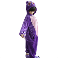 Winter Flannel Kids Animal Onesie Rabbit Pajamas Children Cosplay Costume Hooded Romper Jumpsuit Winter Sleepwear For