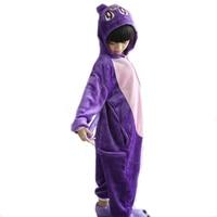 Winter Flannel Kids Animal Onesie Rabbit Pajamas Children Cosplay Costume Hooded Romper Jumpsuit Winter Sleepwear For