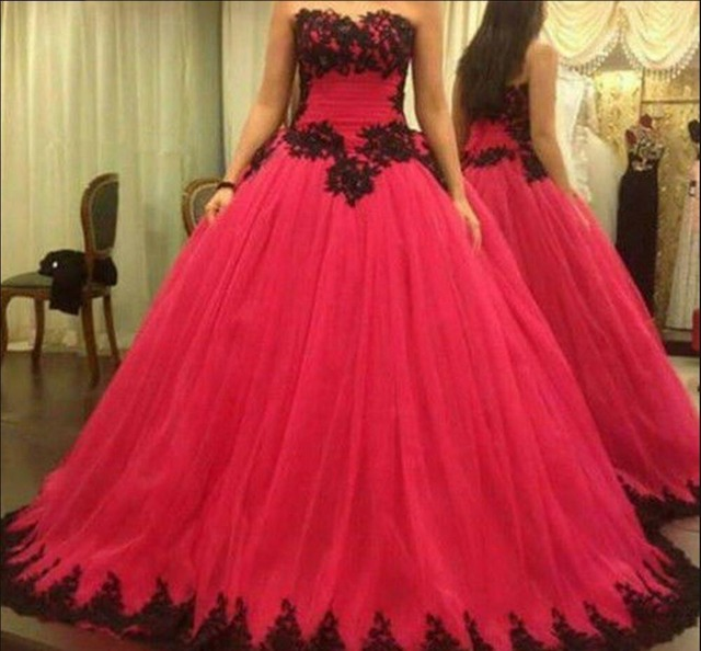 2016 new designer ball gown lace appliques puffy prom dress pleated plus  size long prom dresses 6e3ea142390e