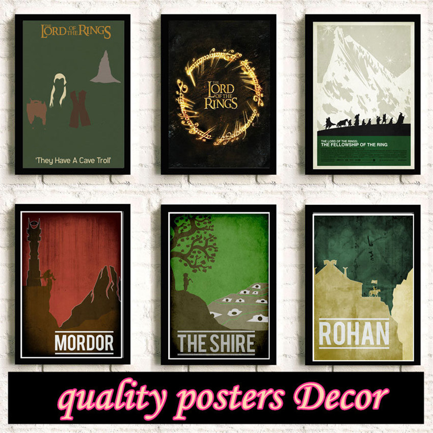 Lord of the Rings Painting quality Reying Movie Home Decor Art Decor living room posters wall art canvas painting No Frame K97 image