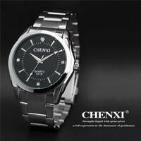 Luxury CHENXI Brand Crystal Japan Movt NO Fade Stainless Steel Quartz Wristwatches Wrist Watch for Men Women Female 021B