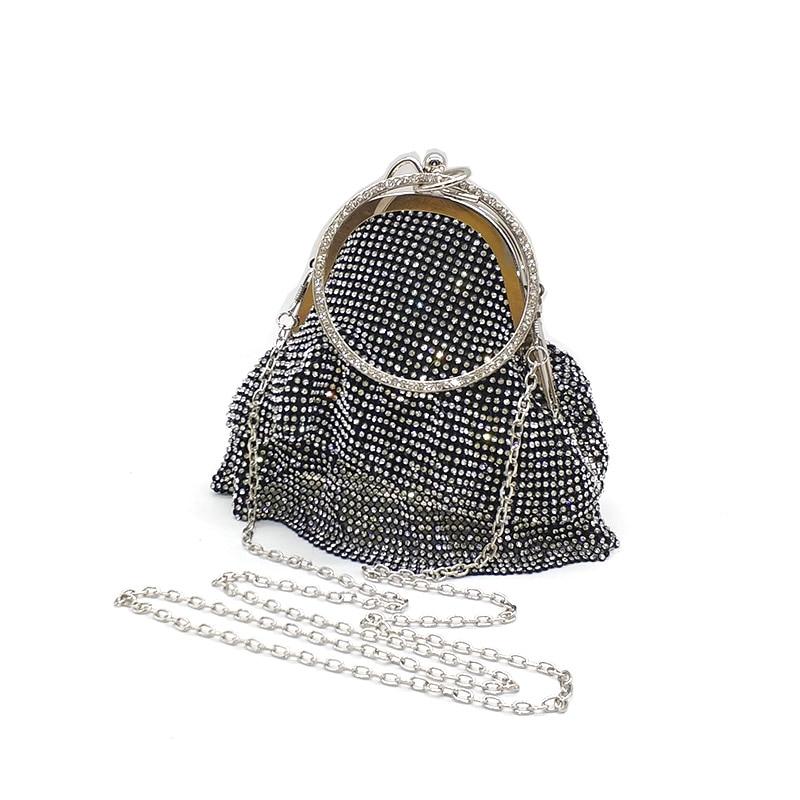4660624505 Big Discount] Golden Diamond Tassel Women Party Metal Crystal ...