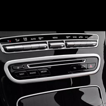 Stainless steel Car CD Plates Air Conditioning Switch Panel Cover Trim For Mercedes Benz C class