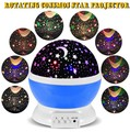 LED Starry Sky Rotating Night Light Moon USB Ball Projector Lamp 360 Degree Multi-colored Romantic Children Baby Bedroom Use
