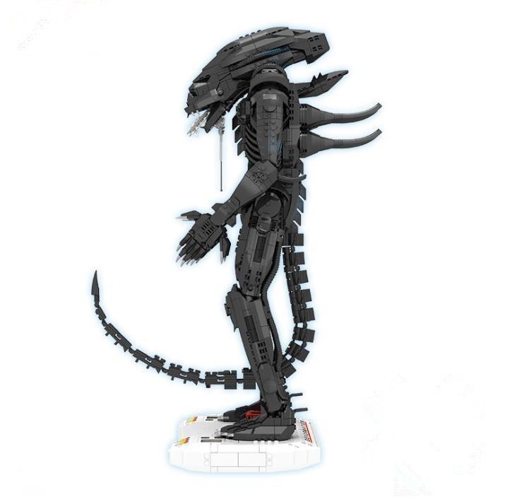 Thriller créatif série de films Alien Clone Robot blocs de construction Alien bébé modèle briques éducatives jouets cadeau pour les enfants - 2