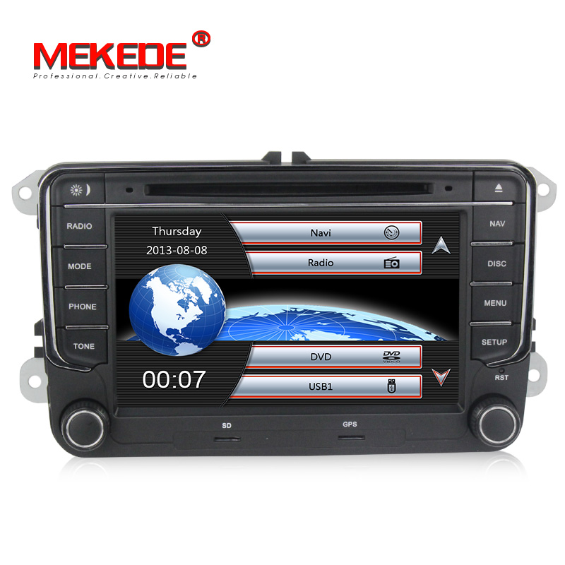 Hot selling original VW button Car stereo head unit navigation GPS DVD player for VW Skoda