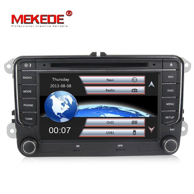 Vendita calda! Originale VW pulsante Auto unità di testa stereo lettore DVD di navigazione GPS per il VW Skoda Octavia/Fabia/Rapid/ yeti/Superb/Sedile