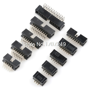 10PCS DC3 6P/8P/10P/14P/16P/20P/30P/34P/40P 2.54mm Socket Header Connector ISP Male Double-spaced Straight needle Curved - discount item  5% OFF Electrical Equipment & Supplies