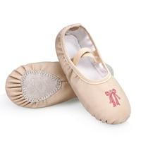 Girls Children Kids PU Soft Sole Ballet Dance Practice Shoes