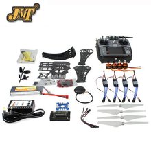 JMT DIY RC Drone Quadrocopter Kit Quadro com GPS APM2.8 AT10 X4M360L TX RTF controle Remoto