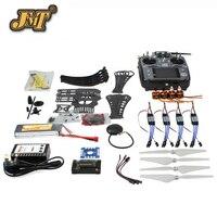 JMT DIY RC Drone Quadrocopter RTF X4M360L Frame Kit with GPS APM2.8 AT10 TX Remote control