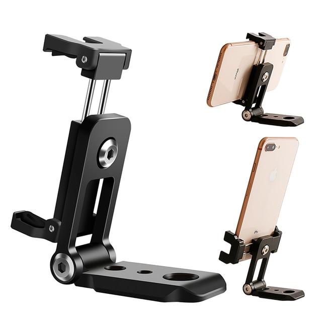 Ulanzi ST 05 Foldable Mini Phone Tripod Mount Adapter Vertical 360 Rotation Tripod Stand for iPhone X 8 7 Samsung S8 7 Redmi
