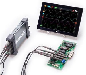 Image 3 - Hantek 6074BE oscyloskopy pamięć cyfrowa oscyloskopy USB do komputera przenośne oscyloskopy 2.0 interfejs 4CH 70MHZ wsparcie WIN10